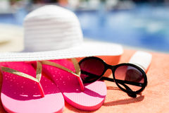 Close up of summer accessories Stock Image