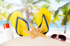 Close-up of summer accessories. Royalty Free Stock Image