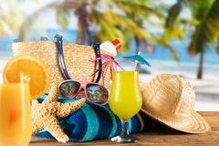 Close-up of summer accessories. Stock Photo