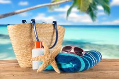 Close-up of summer accessories. Stock Image
