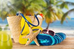 Close-up of summer accessories. Stock Photography