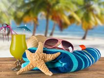 Close-up of summer accessories. Stock Photos