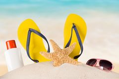 Close-up of summer accessories. Royalty Free Stock Images