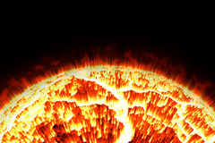 Close up the sun and flame Stock Images