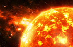 Close up of the sun Royalty Free Stock Photo