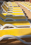 Close-up of sunbeds Royalty Free Stock Images