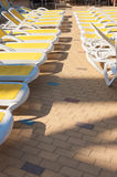 Close-up of sunbeds Stock Images