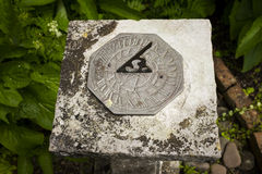 Close up of sundial Stock Photo