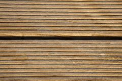 Wooden Deck Closeup Stock Image