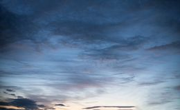 Close up on sunset sky texture or background Royalty Free Stock Image