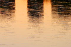 Close up of sunset water reflection Stock Photography