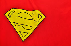 Close-up of superman's cape. Logo royalty free stock photos