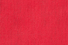 Close-up surface fabric pattern, red texture background. For background , backdrop, substrate, composition use. Stock Image