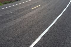 New paved road surface early in the morning. Stock Images