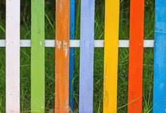 Close up surface of old wood paint , colorful of wood paint, for Stock Photography