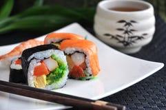 Close up sushi japanese food Stock Images