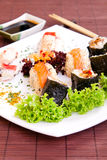 Close-up of sushi on plate Stock Image