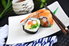 Close up sushi on plate Stock Photo