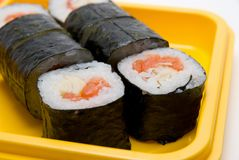 Close up of sushi roll Stock Photo