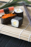Close up sushi roll Stock Images