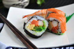 Close up sushi roll Royalty Free Stock Photos