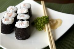 Close up sushi set Royalty Free Stock Photos