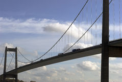 Close-Up Suspension Bridge Royalty Free Stock Photography