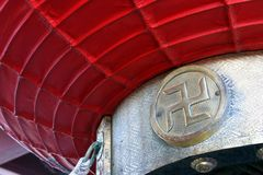 Close up of swastika in a Japanese temple in Tokyo Stock Photos