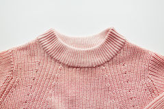 Close up of sweater or pullover on white Stock Photo