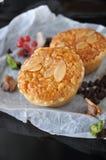 Close up Sweet Almonds Tart royalty free stock photos