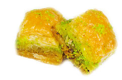 Close up of sweet baklava Stock Image