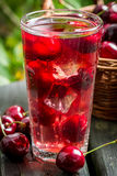 Close-up of sweet cherries juice Royalty Free Stock Images