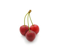 Close-up of sweet cherry on white. Royalty Free Stock Photo