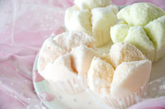 Close up sweet color cupcake Stock Photography