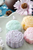 Close up Sweet Color Mooncake Royalty Free Stock Images