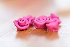 Close-up of sweet delicious edible roses Royalty Free Stock Image