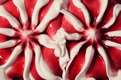 Close up of sweet dessert ice cream Stock Images