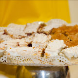Close Up of Sweet Dessert Tray of Baked Goods Stock Photography