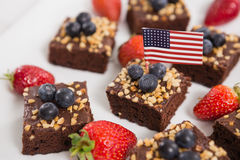 Close-up of sweet food decorated with 4th july theme Stock Images