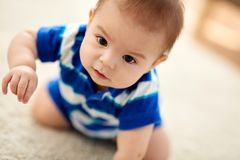 Close up of sweet little asian baby boy royalty free stock photos