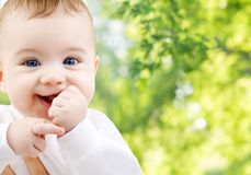 Close up of sweet little baby royalty free stock images