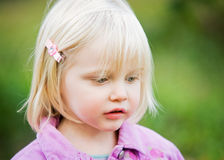 A close-up of a sweet little girl Royalty Free Stock Photography