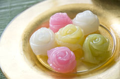 Close up sweet roses dessert Stock Images