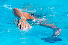 Close-up of swimming man Royalty Free Stock Photos