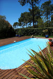Close-up of swimming pool in summer Royalty Free Stock Photo