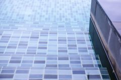 Close Up Swimming Pool.swimming pool bottom caustics ripple and flow with waves background. stock photo