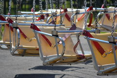Close up of swing chairs Royalty Free Stock Images