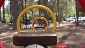 Close-Up of swing swinging stock video