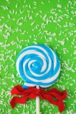 Close up of swirled blue and white candy royalty free stock photos