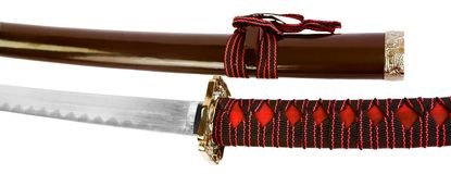 Close up swords isolated Royalty Free Stock Photography